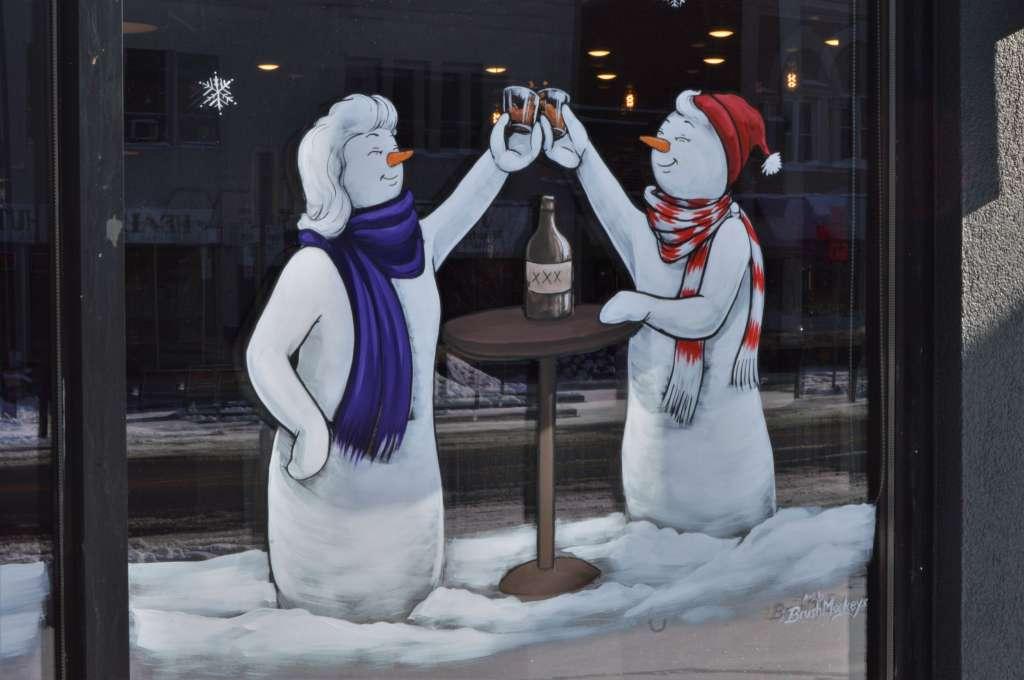 Brush Monkeys Snowmen - Photo Credit Midland Daily News