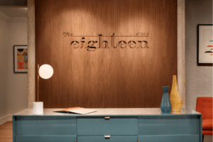 Reservation desk at ONe eighteen